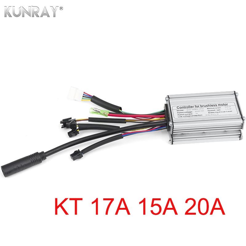 KT 36V 48V Electric Bike 250W 350W Brushless Controller Sine Wave Hall Sensor 15A 17A 20A 6 Mosfet e bike Scooter Conversion Kit-in Electric Bicycle Accessories from Sports & Entertainment    1