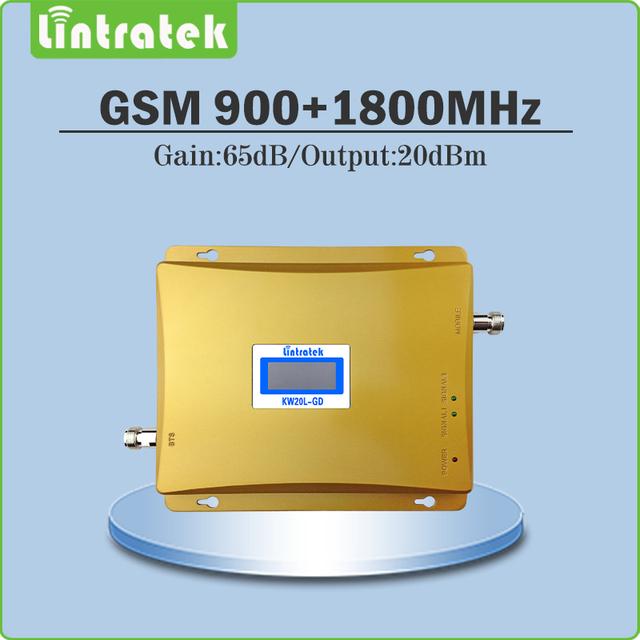 Ganancia 65dB repetidor gsm 900 1800 mobile Potenciadores de la señal GSM DCS repetidor de doble banda 900 mhz 1800 mhz señal celular booster