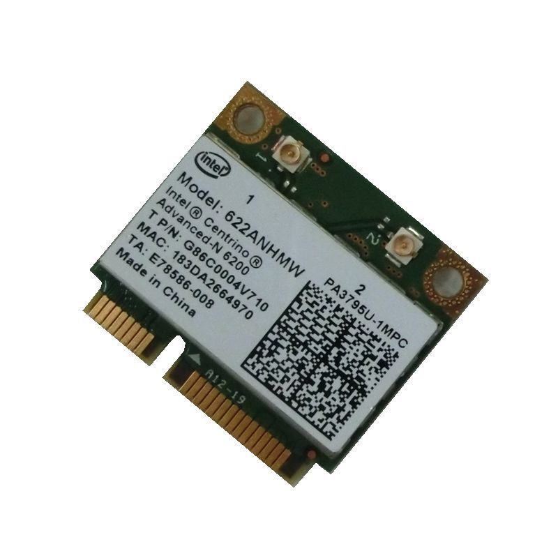 Intel Centrino Advanced-N 6200 622ANHMW 6200AGN Half Mini PCI-E 300Mbps Dual Band 2.4G/5GHZ WIFI Wireless Card