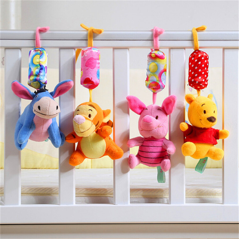 1 Pcs Baby Rattles Newborn Toys Baby Stroller Toy Winnie Cartoon Baby Bed Rattle Bebe Baby Plush Toys