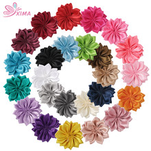 XIMA 25PCS/20PCS Mini Polyester Ribbon Flowers Handmade DIY Hair Flower for Hari Accessory Cheap Flowers Without Clips AC001-3(China)