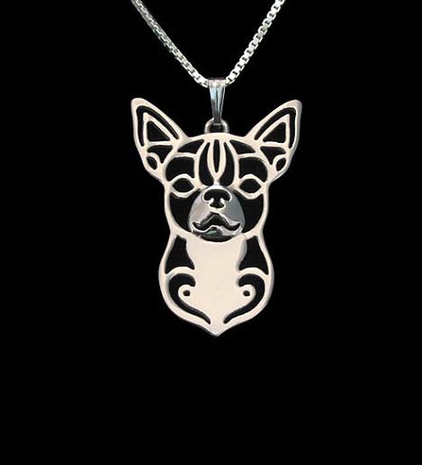 Ожерелье Чихуахуа из сплава в стиле бохо с героями мультфильмов