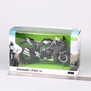 Image 5 - 1/12 Automaxx كاوازاكي نينجا H2 سوبر سبورت الدراجة H2R مقياس دراجة نارية Diecasts & لعبة السيارات نموذج الصور المصغرة للطفل جمع