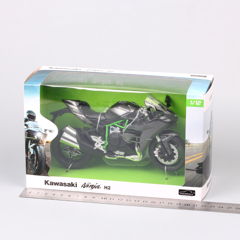 Image 5 - 1/12 Automaxx Kawasaki Ninja H2 supersport bike H2R scale motorcycle Diecasts & Toy Vehicles model thumbnails for kid collectionDiecasts & Toy Vehicles   -