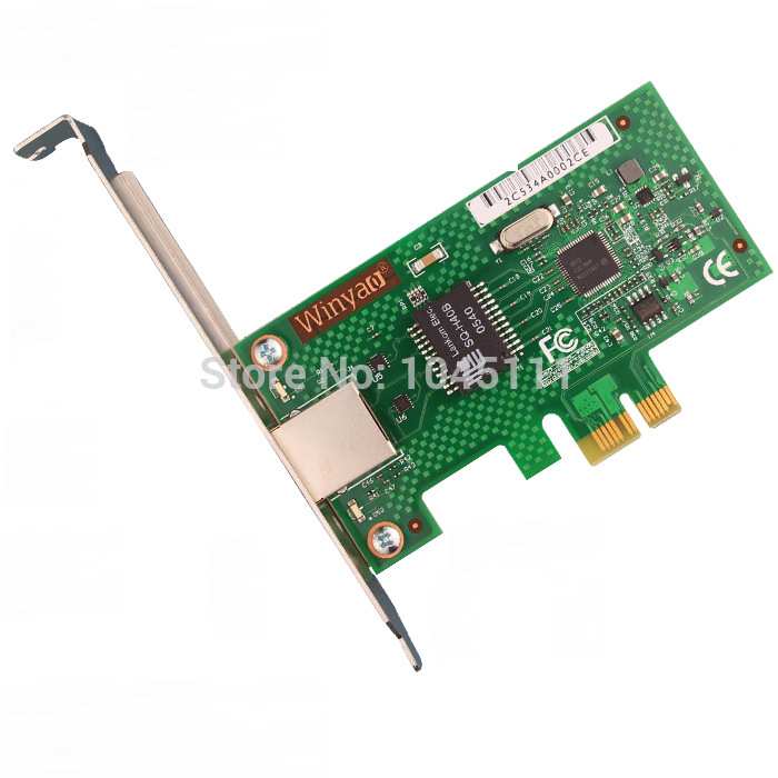 Winyao WYI210T1 PCI-E X1 Server Gigabit Ethernet Network Adapter Card NIC IntelI210T1 Chipset ESXI5.5 Desktop 82574L 39y6106 39y6107 pci x ethernet adapter for 82545gm original 95