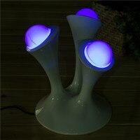1Pcs Cute Kids Gift Glowing Balls LED Night Lamps 3 Led Color Changeable Mushroom Led Night