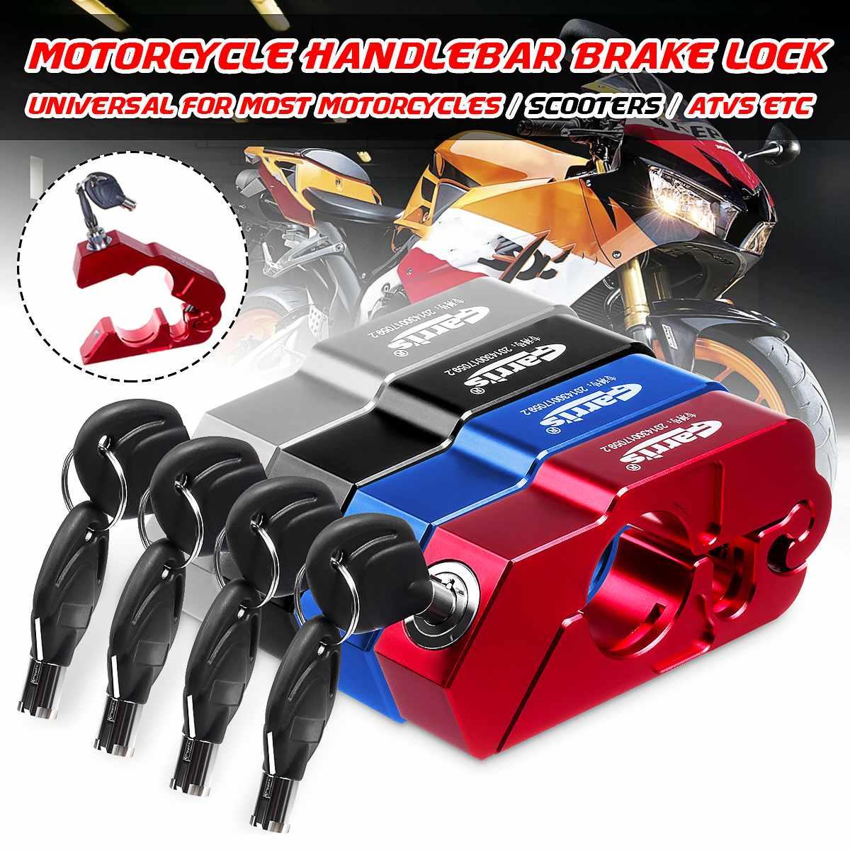 Universal Motorcycle Handle Grip Security Safety Lock Brake Clutch Levers Anti Theft Locks For Kawasaki For Honda For Yamaha ATV