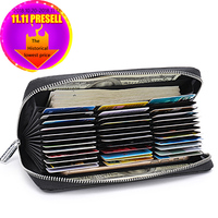 RFID Blocking Theft Genuine Leather Clutch   Wallet   Large Money Purse New Design Top Quality Men   Wallet