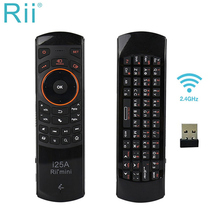 Genuine Rii i25A 2.4Ghz Mini Wireless Russian Fly Air mouse Keyboard with Earphone Jack for PC HTPC IPTV Smart Android TV Box