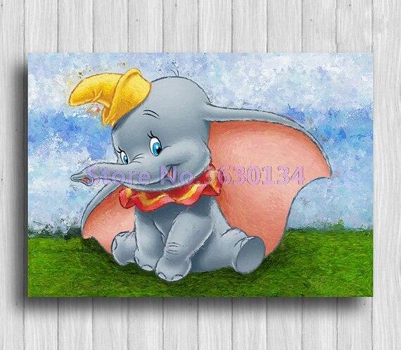 Elephant Diy Diamond Embroidery Diamond Mosaic Cartoon Full Diamond Painting Cross Stitch Rhinestone Home Decoration Stickers