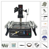 LY IR6500 Infrared BGA Rework Soldering Station Preheat Area 240*200mm with Reballing Kits 6pcs Jigs 810pcs Direct Heat Stencils