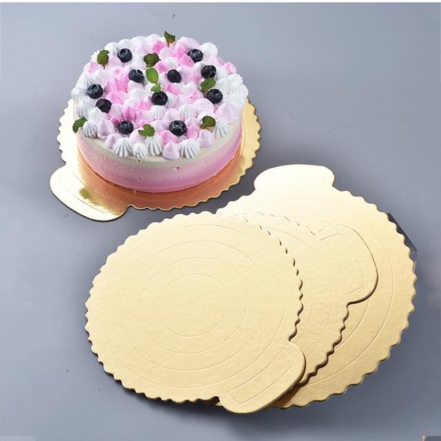 1pc Gold Round Cake Board Circle Base  Inch Paper Cupcakes Stand