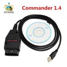 Горячий VAG K+ CAN Commander 1,4 obd2 диагностический сканер инструмент OBDII VAG 1,4 COM Кабель для vag сканер