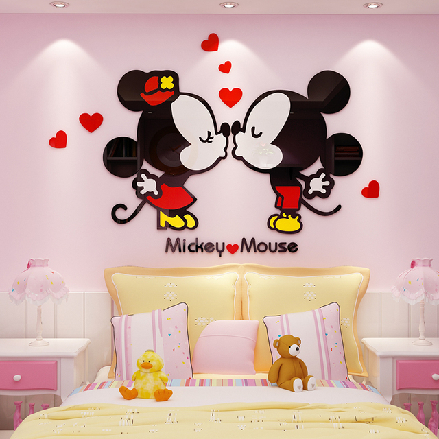 3 Styles Diy Wall Art Decal Mickey Mouse S Minnie Stickers For Wedding Room Home Decor Wallpaper