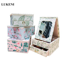 Creative Jewelry Box Leather Princess European Vintage Jewelry Box Exquisite Makeup Case Jewelry Organizer Fashion Gift Boxes