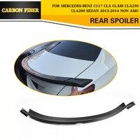 Углеродного волокна заднего крыла губ спойлер багажника для Mercedes Benz CLA Clsaa CLA250 CLA260 CLA45 Седан 4 двери 2013 2014