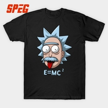 Funny Rick and Morty T Shirt Men Short Sleeve Boy Gift 100% Cotton Love Physics Science E MC2 T-Shirts Einstein XXXL Round Neck