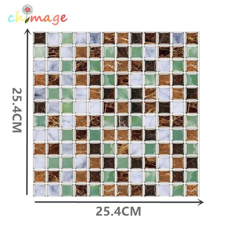 3D Self Adhesive Mosaic Tile Wall Sticker Kitchen Bathroom Backsplash Home Decor Foil Wallpaper DIY D