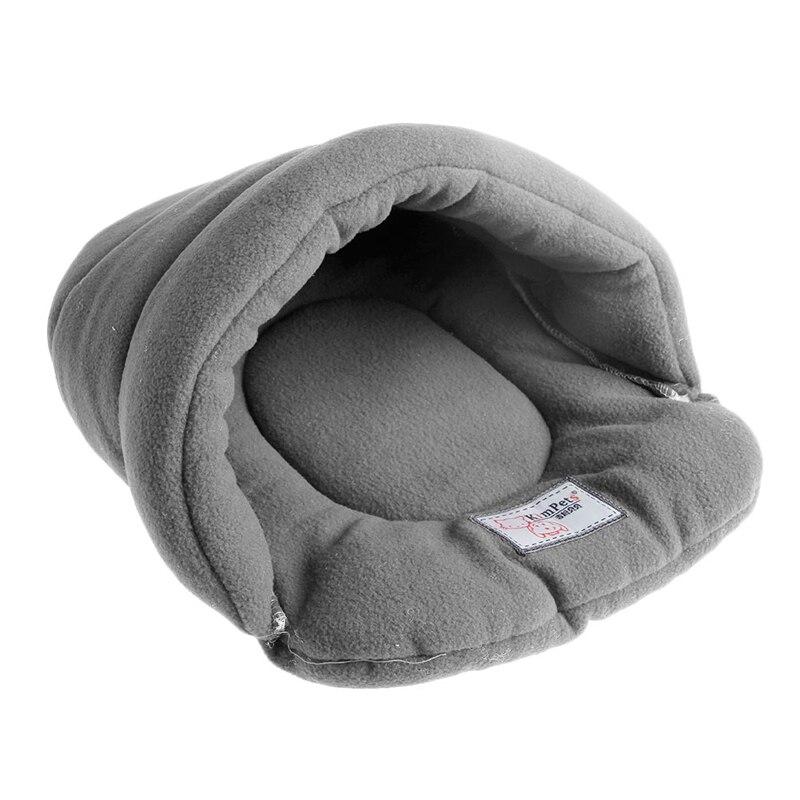 Pet Cat House Soft Warm Winter Dog Cat Bed Flip Flop Cave Dog House Cute Kennel Nest Dog Fleece Cat Bed Yx# #3