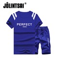 Jolintsai Brand Summer Hoodies Sportwear Men Plus Size M-5XL 2017 Mens Sweatshirt Sweat Pants Suits 2pcs Tracksuit Men