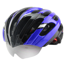 Newest Bicycle Helmet Mountain Road MTB Cycling Helmet Goggles Helmet With 2 Pair Lens 56-62 CM 25 Air Vents