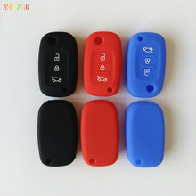 1pcs Silicone Car key cover Case For Lada Flip 3 button remote Shell Blank Fob Auto parts car accessories colorful