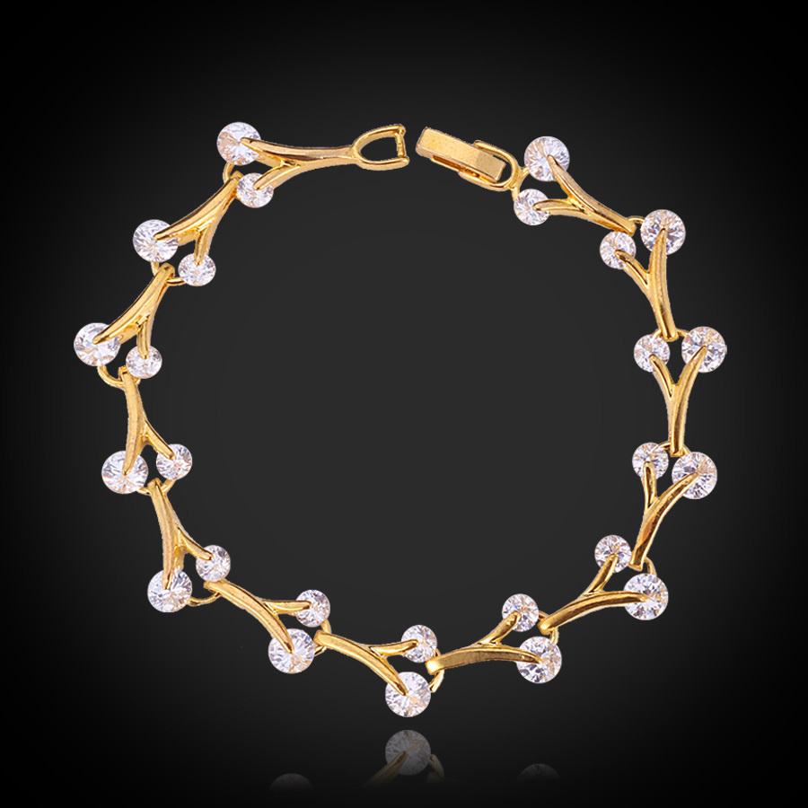 New Girls Cute Bracelet Brand Gold Color Top Quality Cubic Zircon ...