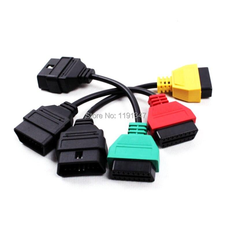 Prix pour Obd câble pour Fiat Ecu Scan Adaptateur Fiat Connecteur obd2 câble 16Pin OBD Câble pour Fiat Trois Couleurs (3 Pièces/ensemble)