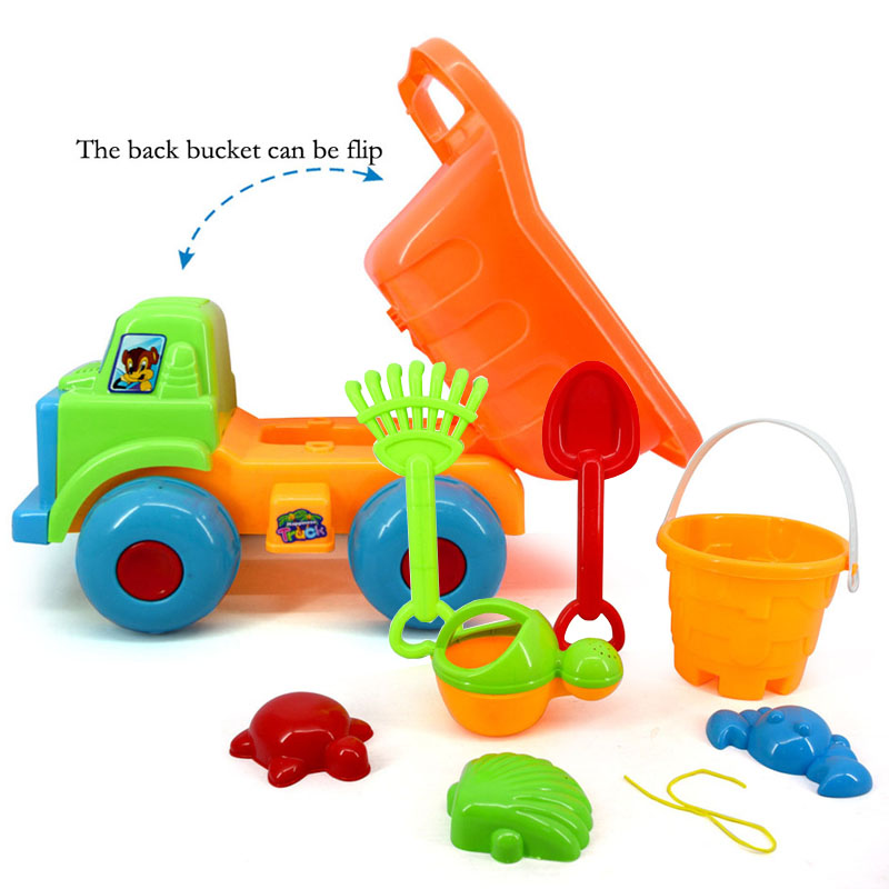 Toys & Hobbies Bath Toy New Beach Car Play Sand Hourglass Shovel Bucket Beach Toys Suit Large Baby Playing In The Water Toys