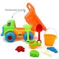 Nueva playa coche play cubo juguetes de playa de arena reloj de arena pala grande de traje de bebé que juega en los juguetes de agua