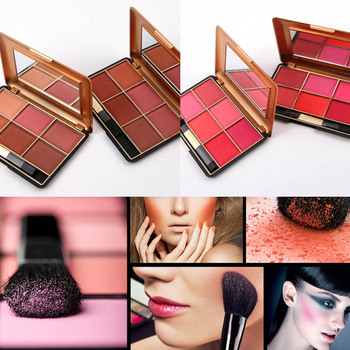 6 Colors MISS ROSE Professional Face Make Up Blusher Palettes Bronzer Contour Powder Makeup Tool Promotion Price 1