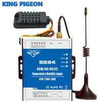 S264 Temp Humidity Data Logger Monitoring Alarm System Support High Low SMS Call Alert GSM 3G
