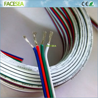 20m 50M 4Pin Extension Wire 22 Awg Wire RGB White Wire Connector Cable 4 Color For