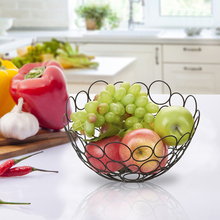 Creative Fruit Basket Living Room Plate Drainage Reception Swing Stainless Steel Candy Modern Si