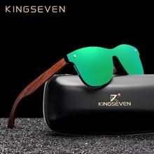KINGSEVEN Natural Wooden Sunglasses Men Polarized Fashion Su