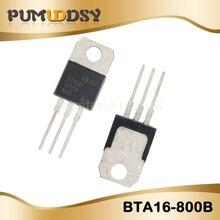 100 قطعة شحن مجاني BTA16 800B BTA16 800 BTA16 ترياكس 16 أمبير 800 فولت TO 220 جديد الأصلي