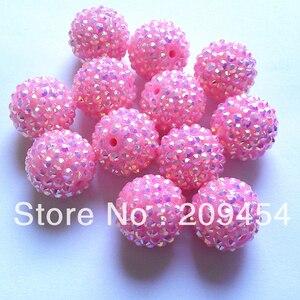 Image 3 - Część hurtowa 2 1, masywne żywiczne koraliki RhinestoneBall dla mody Chunky biżuteria