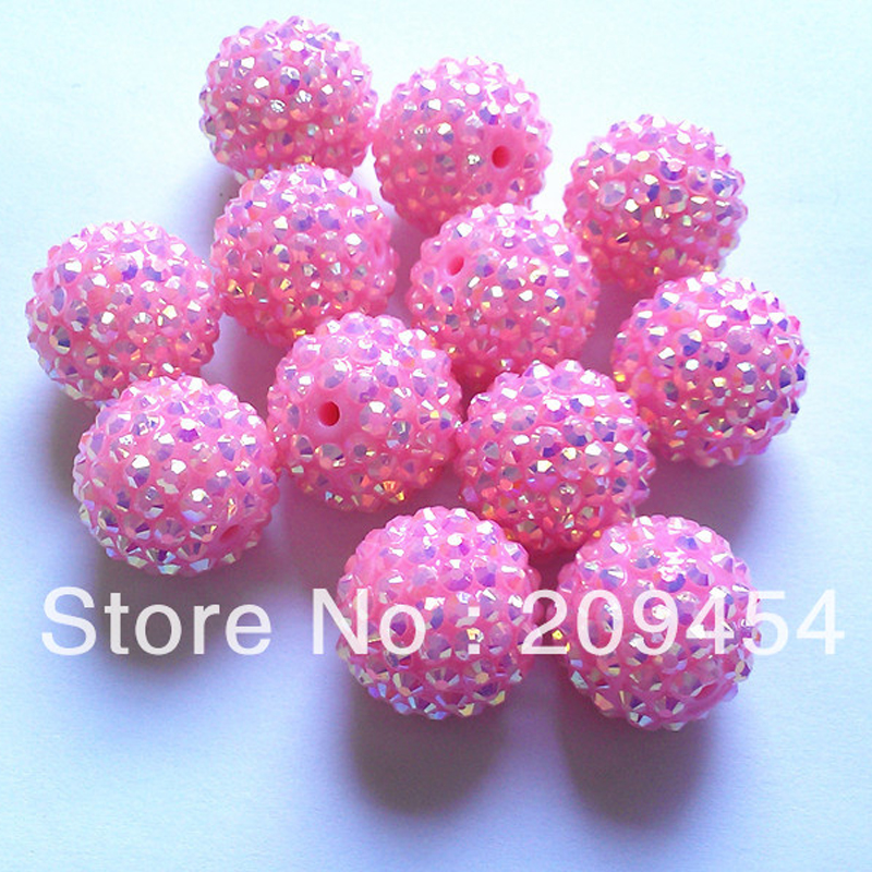 Image 3 - Wholesale Part 2 1, 12mm 14mm 16mm 18mm 20mm  Chunky Resin RhinestoneBall Beads For Fashion Chunky Jewelry-in Beads from Jewelry & Accessories