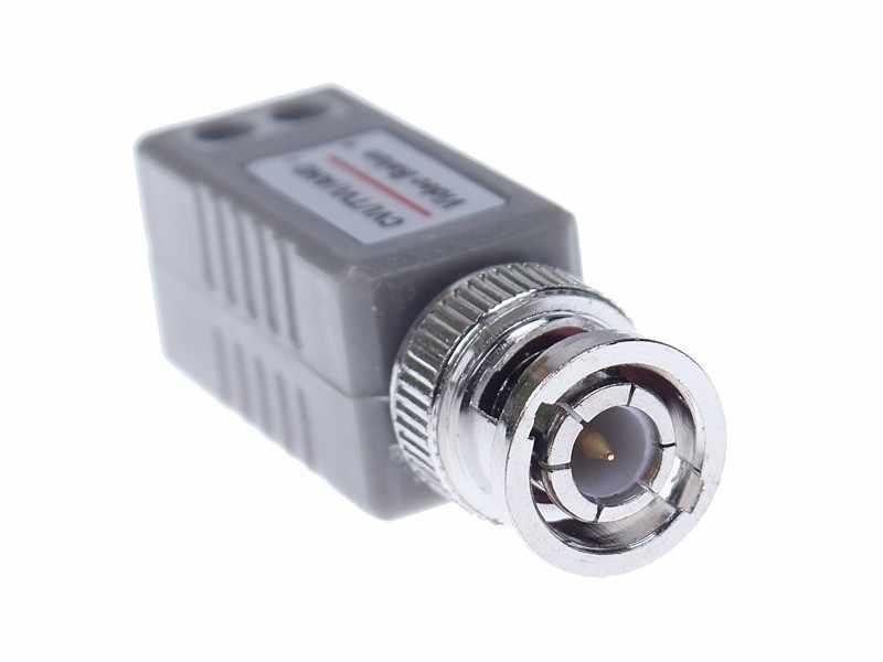 CCTV Twisted BNC 1 kanałowy pasywny TVI CVI AHD wideo Balun Transceiver 10 par/partia COAX CAT5 kamera kabel UTP Adapter koncentryczny