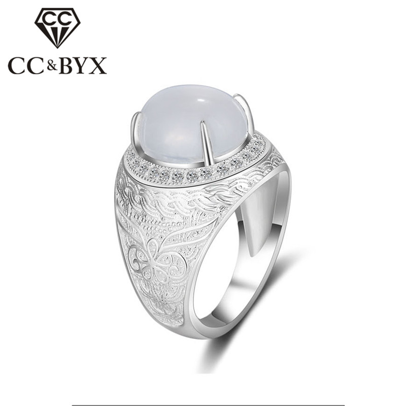CC Vintage S925 Silver Chinese Style Rings For Men