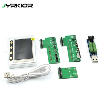 Jyrkior For iPhone 4/5/6/6s/7/8/x iPad 3/4 mini 1/2/3/4 Air/Air 2 Pro Battery Tester USB Date Cable Test Authenticity recognizer фото