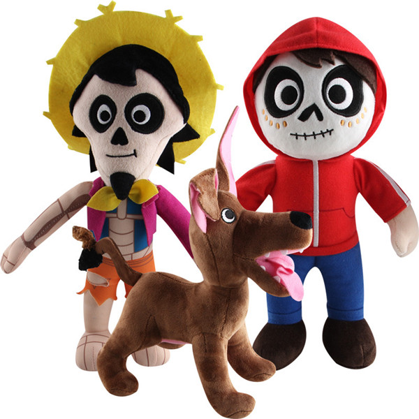 Dog Miguel Skull Movie Coco Plush Toy Doll Model Cartoon Stuffed Dolls Baby Kids For Children Birthday Gifts Dream Travel Mexico stuffed dog plush toys black dog sorrow looking pug puppy bulldog baby toy animal peluche for girls friends children 18 22cm