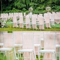 Комплект из 2 предметов, длинная юбка-пачка с сетчатым покрытием для стула, белая, розовая, персиковая юбка-пачка для стула, юбка для свадебно...