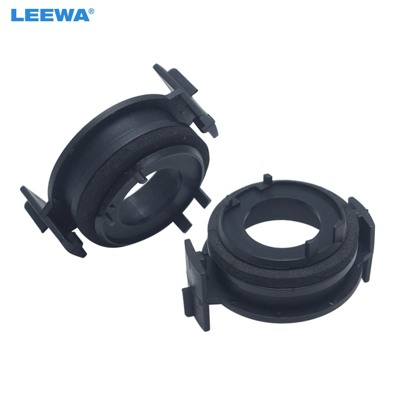FEELDO 2x H7 <font><b>LED</b></font> Headlamp Bulb Base Holders <font><b>Adapter</b></font> For <font><b>BMW</b></font> <font><b>E46</b></font> 3 Series <font><b>LED</b></font> Headlight Clip Retainer Scokect <font><b>Adapter</b></font> #CA5940 image