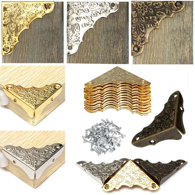 Antique Jewelry Corner Protector Wooden Box Frame Feet Leg Decorative Protectors For Furniture Accessories