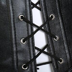 Image 5 - מיס מולי Steampunk מחוך סקסי גותי Bustier Overbust הרזיה שמלת בורלסק למעלה 6XL בתוספת גודל בד בטן בקרת נדן