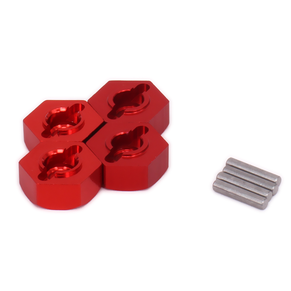 RCAWD 4PCS Aluminum Hub <font><b>Wheel</b></font> Hex Hub Adaptor For Rc Hobby Model Car 1-12 <font><b>Wltoys</b></font> <font><b>12428</b></font> 12423 Upgraded Parts 0044 Monster image