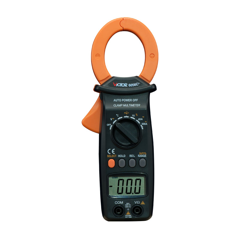 VICTOR 6056E  Digital Clamp Meter Jaw open 55mm portable design, can be one-handed operation victor 6056d digital clamp meter