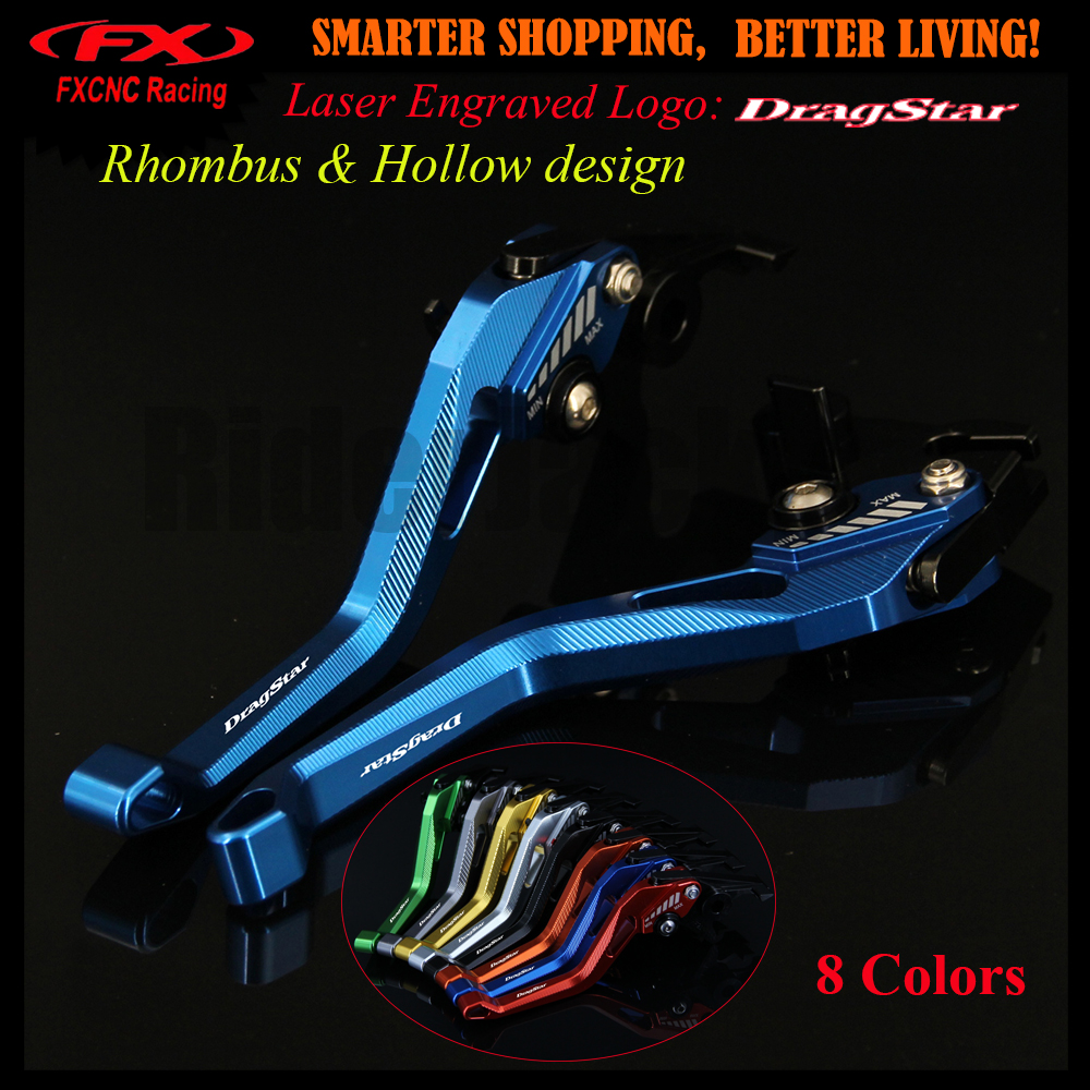 New 3D Rhombus Hollow Design patent For Yamaha XVS 1100 XVS1100 DRAGSTAR 1999-2004 2003 Blue Motorcycle CNC Brake Clutch Levers motorcycle parts spike air cleaner filter for yamaha v star 1100 dragstar xvs1100 1999 2012 chrome