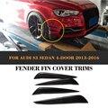 Карбоновый автомобильный разделитель для передних наклеек  для Audi S3 Sline Sedan 4 двери 13-16  не стандарт A3